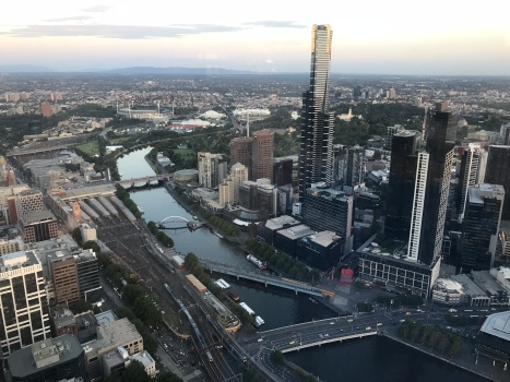 Overlooking the CBD and Yarra River