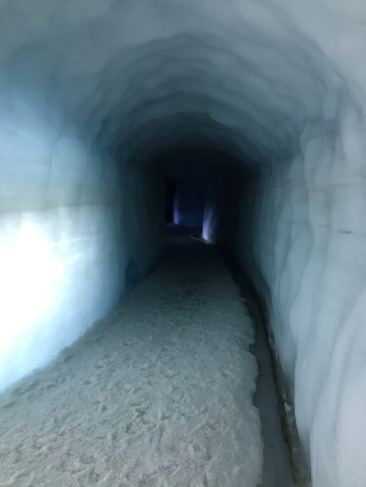 Inside the ice tunnel