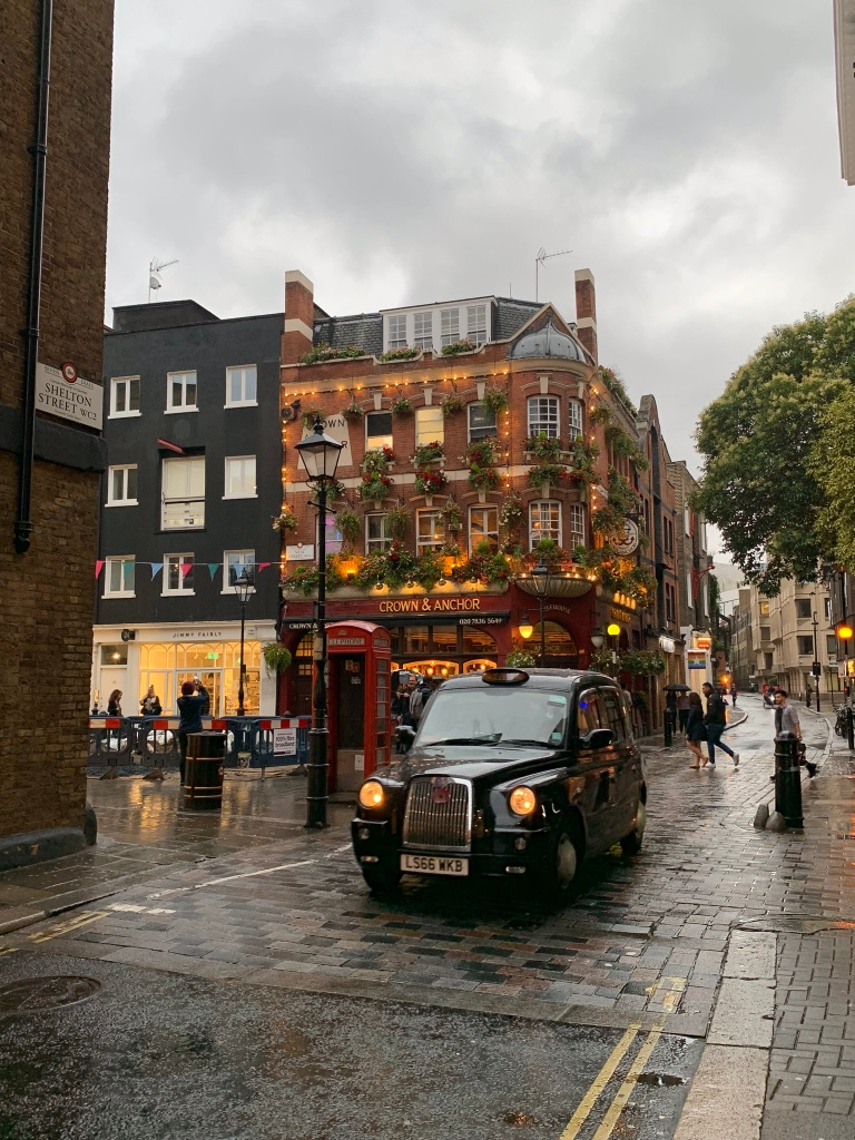 Rainy street in London