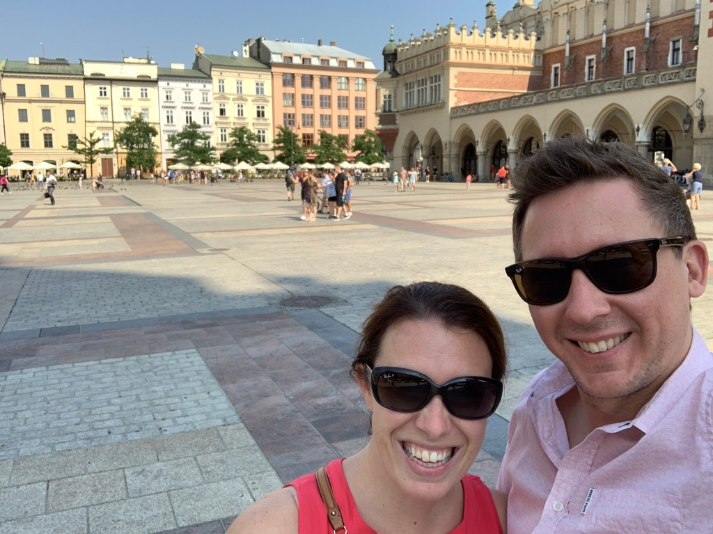 Standing in Krakow's Main Square