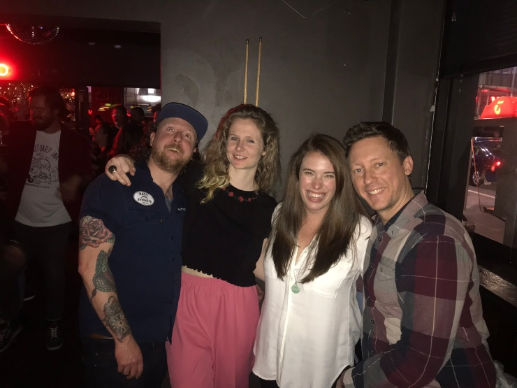 Group of friends having drinks at a bar in Melbourne