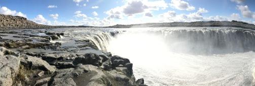 Dettifoss waterfall panorama