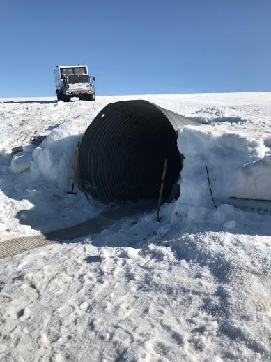 Tunnel opening on Langjökull glacier