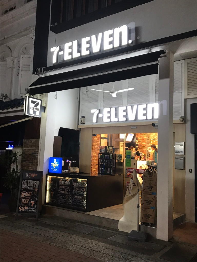 7-Eleven bar in Clarke Quay Singapore