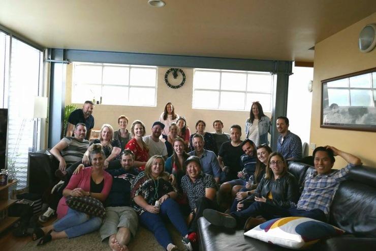 Group photo at Friendsgiving