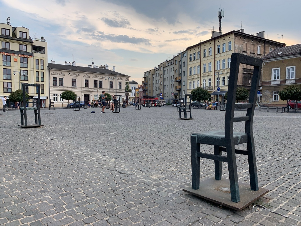 Chair memorial in the Jewish Quarter