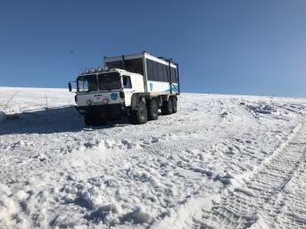Truck that drove us onto the glacier