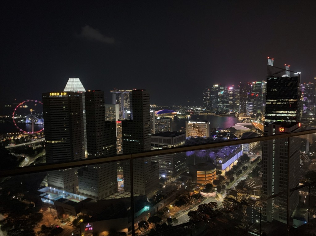 City lights from Mr. Stork in Singapore