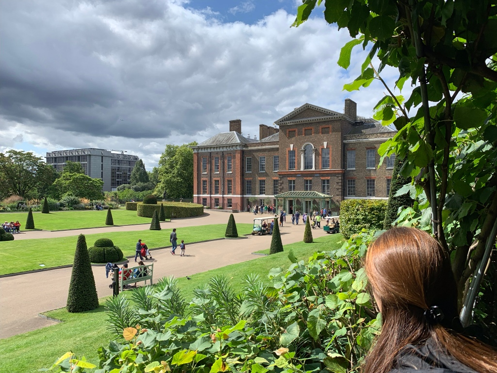 Looking at Kensington Palace through gardens